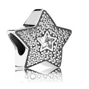 Pandora Charm Silver & CZ Star
